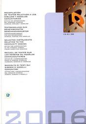 Recueil de textes sur les dessins ou modeles communautaires - Intérieur - Format classique