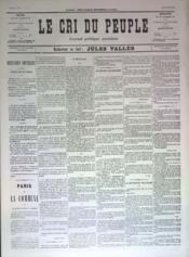 Cri Du Peuple (Le) N°72 du 12/05/1871 - Couverture - Format classique