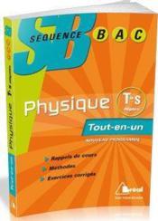 Physique ; terminale S ; enseignement obligatoire - Couverture - Format classique