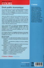 Droit public économique (2e édition) - 4ème de couverture - Format classique