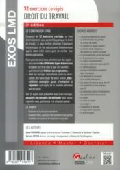 Exos LMD ; droit du travail (3e édition) - 4ème de couverture - Format classique