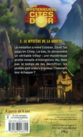 Les mystérieuses cités d'or saison 2 t.3 ; le mystère de la grotte - 4ème de couverture - Format classique