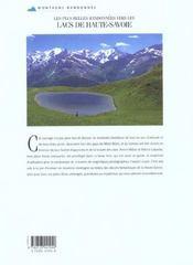 Les plus belles randonnées vers les lacs de haute-Savoie - 4ème de couverture - Format classique