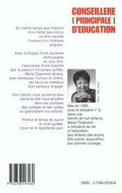 Conseillere Principale D'Education ; Petits Bonheurs Et Grosses Colere D'Un Metier Peu Ordinaire - 4ème de couverture - Format classique