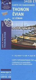 Thonon ; Evian ; le Léman ; 3428 ET - Couverture - Format classique