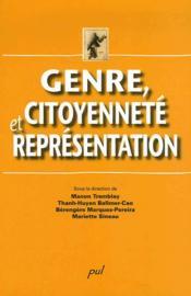 Genre, citoyenneté et représentation - Couverture - Format classique