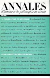 Annales d'histoire et de philosophie du vivant t.1 - Couverture - Format classique