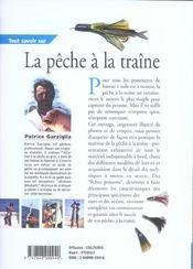 Tout Savoir Sur La Peche A La Traine - 4ème de couverture - Format classique