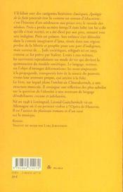 Apologie De La Fuite - 4ème de couverture - Format classique