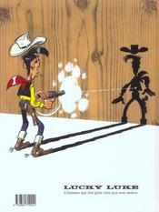 Lucky Luke t.33 ; le pied-tendre - 4ème de couverture - Format classique