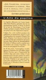 Aile Du Papillon - 4ème de couverture - Format classique