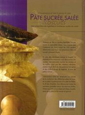 Pâte sucrée-salée et biscuits - 4ème de couverture - Format classique