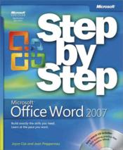 Vente livre :  Microsoft Office Word 2007 ; Step by Step  - Steve Preppernau