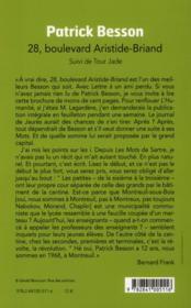 28 boulevard Aristide-Briand ; tour Jade - 4ème de couverture - Format classique