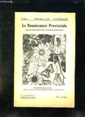 La Renaissance Provinciale N° 100 Octobre 1952 A Janvier 1953. Dessin De Susanne Favriou. - Couverture - Format classique
