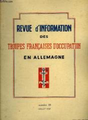 Revue D'Information Des Troupes Francaises D'Occupation En Allemagne - Numero 22 - Couverture - Format classique