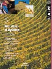 L'Alpe 05 - Vins, Vignes Et Vignerons - Couverture - Format classique