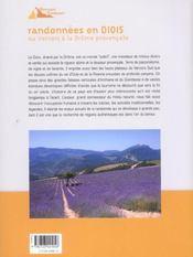 Randonnées en Diois ; du vercors à la Drome provençale - 4ème de couverture - Format classique