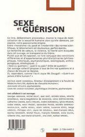 Sexe Et Guerison - 4ème de couverture - Format classique