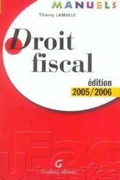 Manuel de droit fiscal 2005-2006 - Intérieur - Format classique