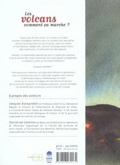 Les volcans ; comment ca marche ? - 4ème de couverture - Format classique