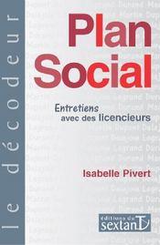 Plan social ; entretiens avec des licencieurs - Couverture - Format classique