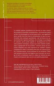 La mobilité généralisée ; formes et faveurs de la mobilité quotidienne - 4ème de couverture - Format classique