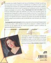 Psychologie De La Mort Et Du Deuil - 4ème de couverture - Format classique