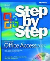 Vente livre :  Microsoft Office Access 2007 Step by Step  - Dow Lambert