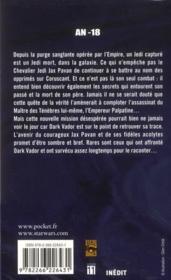 Star Wars - Les Nuits De Coruscant T.3 ; Modèles De Force - 4ème de couverture - Format classique