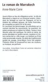 Le roman de Marrakech - 4ème de couverture - Format classique