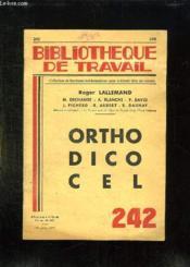 Orthodico Cel Dictionnaire D Orthographe. - Couverture - Format classique