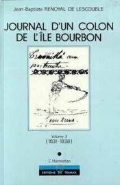 Journal d'un colon de l'île Bourbon - Couverture - Format classique