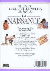 La Naissance - 4ème de couverture - Format classique