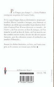 Dictionnaire des clichés littéraires - 4ème de couverture - Format classique