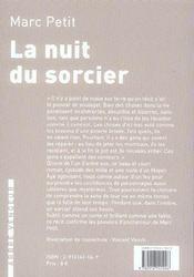 Nuit Du Sorcier (La) - 4ème de couverture - Format classique