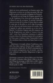 Le voleur de cadavres - 4ème de couverture - Format classique