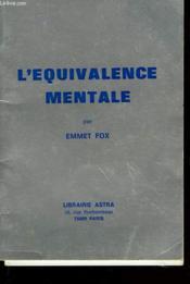 L'Equivalence Mentale - Couverture - Format classique