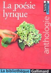 Vente  La poesie lyrique  - Collectifs Gallimard - Collectif Gallimard - Bruno Doucey