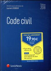 Vente  Code civil (édition 2018)  - Laurent Leveneur - Collectif