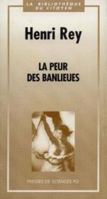 La Peur Des Banlieues - Couverture - Format classique
