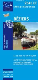 Béziers ; 2545 ET - Couverture - Format classique