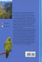 Guide Des Milieux Naturels La Reunion-Maurice-Rodrigues - 4ème de couverture - Format classique