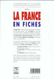 La france en fiches - 4ème de couverture - Format classique