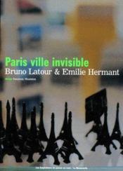 Paris Ville Invisible - Couverture - Format classique