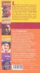 La thaïlande des thaïlandais - 4ème de couverture - Format classique