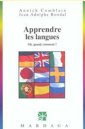 Apprendre les langues ; où, quand, comment ? - Intérieur - Format classique