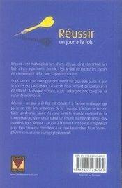 Réussir un jour à la fois (édition 2007) - 4ème de couverture - Format classique