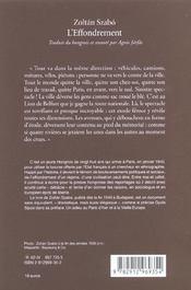 L' Effondrement ; Journal De Paris A Nice ; 10 Mai 1940-23 Aout 1940 - 4ème de couverture - Format classique