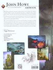 John Howe ; artbook - 4ème de couverture - Format classique